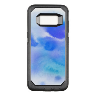 Abstract watercolor hand painted background. OtterBox commuter samsung galaxy s8 case