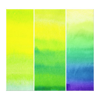 Abstract watercolor hand painted backgrounds set gallery wrap canvas