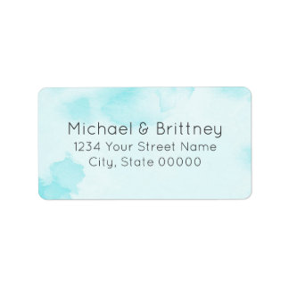 Abstract Watercolor in Blue | Address Labels