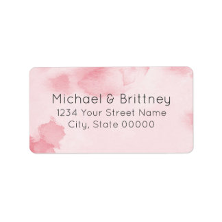 Abstract Watercolor in Pink | Address Labels