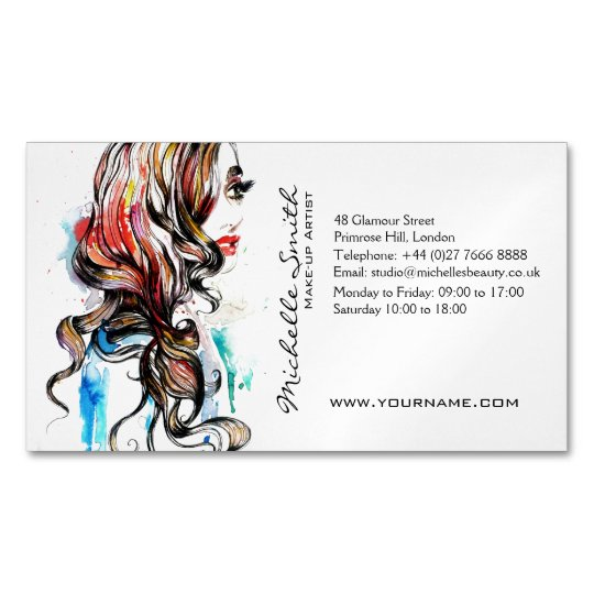 Abstract watercolor ink colourful woman makeup magnetic business abstract watercolor ink colourful woman makeup magnetic business card colourmoves