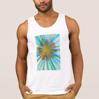 Abstract watercolor kaleidoscope style singlet