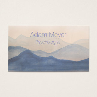 Abstract Watercolor Landscape Classy Business Card