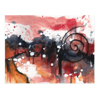 Abstract watercolor painting greeting card
