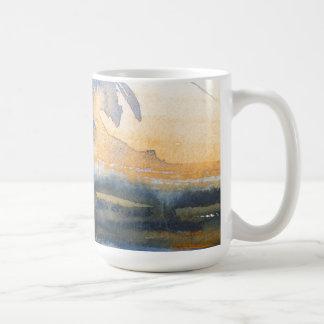 Abstract watercolor painting mugs