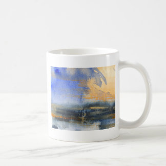 Abstract watercolor painting coffee mugs