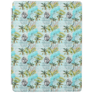 Abstract Watercolor Palm Tree Pattern iPad Cover