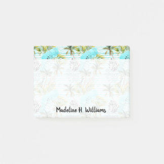 Abstract Watercolor Palm Tree Pattern Post-it Notes