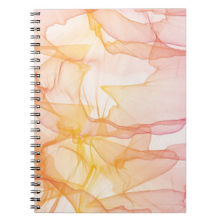 Abstract watercolor pattern notebook
