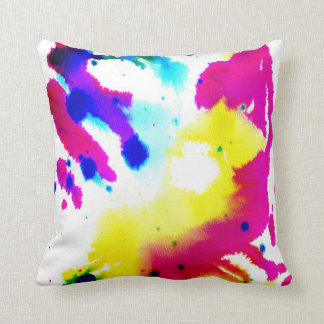 Abstract watercolor pattern throw pillow cushion