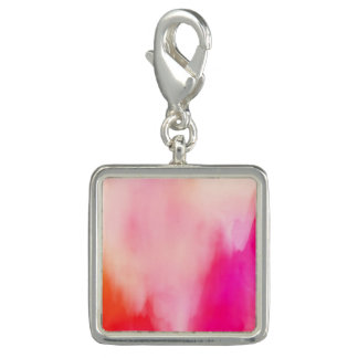 Abstract Watercolor Pink Coral Orange Colorful