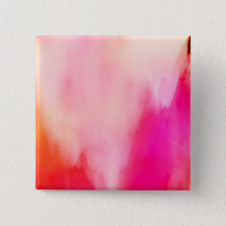Abstract Watercolor Pink Coral Orange Colorful 15 Cm Square Badge