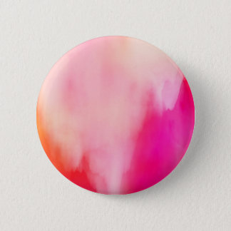 Abstract Watercolor Pink Coral Orange Colorful 6 Cm Round Badge