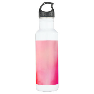 Abstract Watercolor Pink Coral Orange Colorful 710 Ml Water Bottle