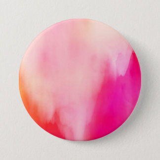 Abstract Watercolor Pink Coral Orange Colorful 7.5 Cm Round Badge