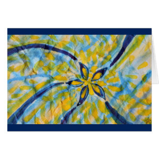 Abstract watercolor spinning star/flower card