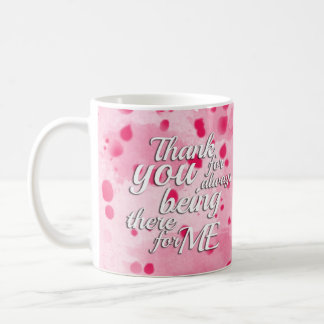 Abstract Watercolor Splatter in Pink Coffee Mug
