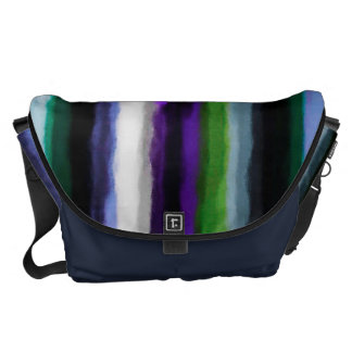 Abstract Watercolor Stripes Pattern Courier Bags