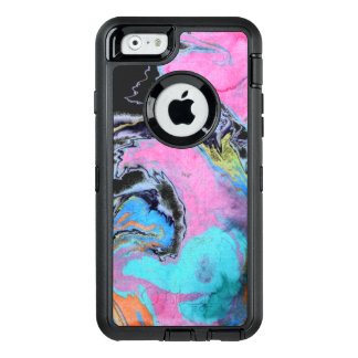 Abstract Watercolor Swirl OtterBox Defender iPhone Case