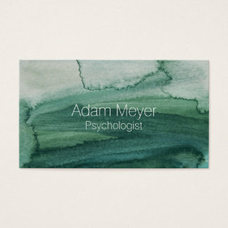 Abstract Watercolor Texture Classy Business Card