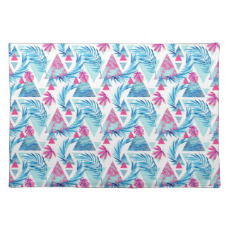 Abstract Watercolor Tropical Leaf Pattern Placemat