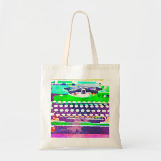 Abstract Watercolor - Vintage Typewriter Tote Bag