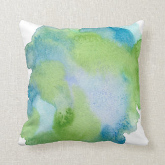 Abstract Watercolor Wash Paint Throw Pill Cushion