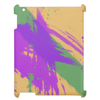 Abstract Watercolors Paint Purple Green Gold Case For The iPad