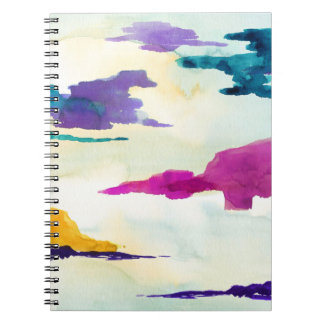 Abstract Watercolour Landscape Spiral Notebook