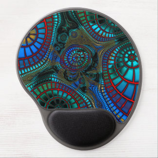 Abstract Wave-Fractals Gel Mouse Pad