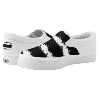 Abstract Wave Slip On Shoes