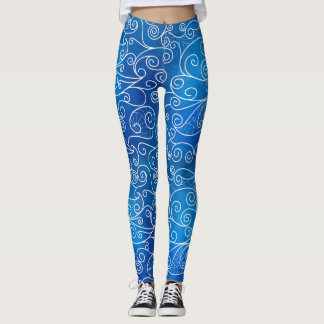 abstract waves background leggings