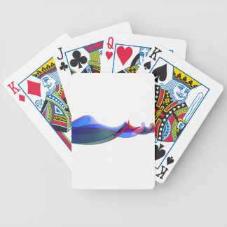 Abstract waves bicycle playing cards