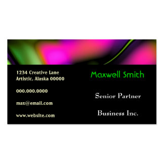 Abstract Waves Bold Bright Funky Creative Fun Pack Of Standard Business Cards
