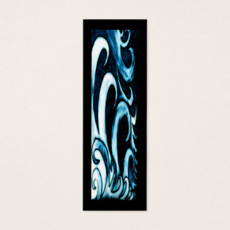 Abstract Waves Bookmark Mini Business Card