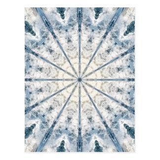 Abstract waves kaleidoscope greeting card postcard