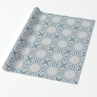 Abstract waves kaleidoscope wrapping paper