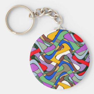 Abstract Waves Key Chain
