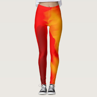 Abstract Waves Leggings