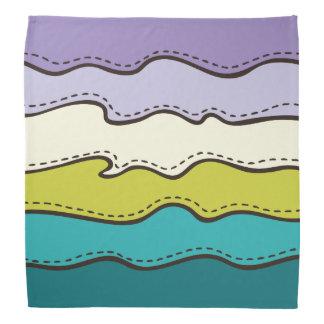 Abstract Waves Pattern Bandana