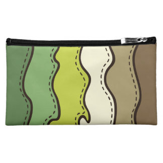 Abstract Waves Pattern Makeup Bag