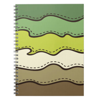 Abstract Waves Pattern Notebook
