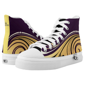 Abstract Waves Printed Shoes