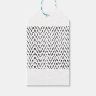 Abstract Wavy Indonesian Textile Gift Tags