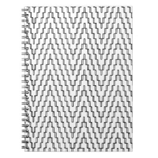 Abstract Wavy Indonesian Textile Notebook