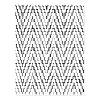 Abstract Wavy Indonesian Textile Postcard