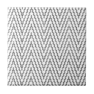 Abstract Wavy Indonesian Textile Tile