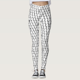 Abstract Wavy Pattern Leggings