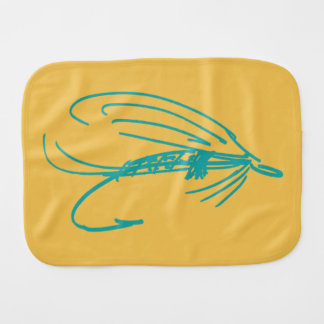 Abstract Wet Fly Lure Burp Cloth