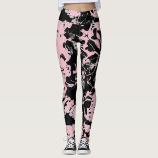 Abstract Wet Paint Leggings
